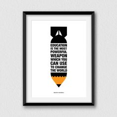 The most powerful weapon. Printable inspirational by Cartelmania