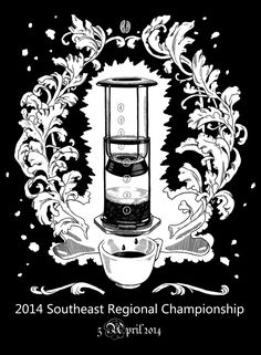 As it says on the box: the southeast regional AeroPress Championship. Apparently the mystery coffee ingredient this year is kale...