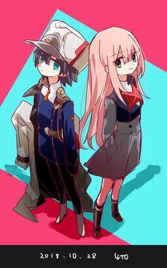 The Klaxosaur Twins (Darling In The Franxx x Male OC Reader) Chica Anime Manga, Kawaii Anime, Anime Art, Manga Cute, Waifu Material, Zero Two, Best Waifu, Cool Animations, Darling In The Franxx