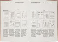 Several post-War Swiss designers are the best-known exponents of the grid. This spread is from Josef Müller-Brockmann's Grid Systems in Graphic Design, in which he explains, in meticulous detail, how multicolumn and field-based grids can be used flexibly to achieve any number of different layouts, in both 2-D and 3-D work.