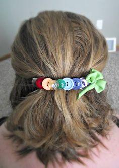 DIY Button Hair Clip for St. Patrick's Day #TBCcrafters #diy #craft #hairclip #buttons #stpattysday #stpatricksday