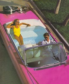 Let's car pool. Only because it reminds me of the barbie car I begged my parents for with the jacuzzi in the back. Let's car pool. Only because it reminds me of the barbie car I begged my parents for with the jacuzzi in the back. Barbie And Ken, Aesthetic Vintage, 90s Aesthetic, Aesthetic Fashion, Aesthetic Pictures, Summer Vibes, Pink Summer, Summer Dream, Style Summer