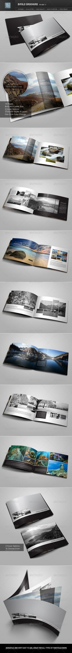 Bifold Brochure | Volume 11 - Photo Albums Print Templates
