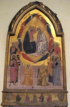 Jacopo di Cione ( alla maniera di) -  Incoronazione della Vergine -1375 ca.. - Pinacoteca Vaticana