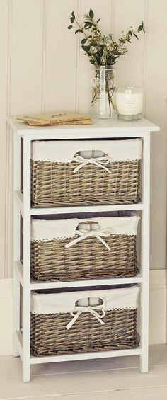 Natural Wicker Drawer Unit From Next   Maybe Stand In Corner Of Counter Top  In Corner?