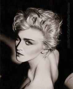 Madonna - Pencil Portraits by AmBr0  <3 <3