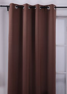 Deconovo Brown Thermal Insulated Bedroom Window Blackout Panel Curtains 52 By 63 Inch