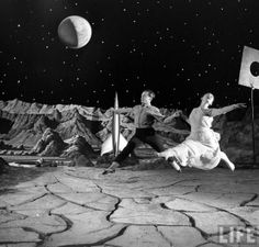 Moon Ballet from LIFE archives, photographed in 1950 by Allan Grant on what any sci-fi film buff will instantly recognise as the set of George Pal's Destination Moon.