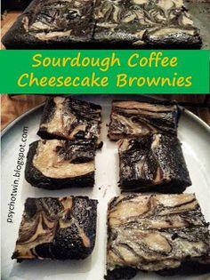 Sourdough Coffee Cheesecake Brownies