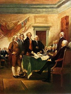 The Declaration of Independence by Trumbull  by mysunshinevintage