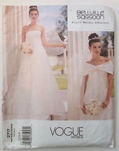 Beautiful Vogue Sewing Pattern Bellville Sassoon Elegant Strapless Wedding Dress