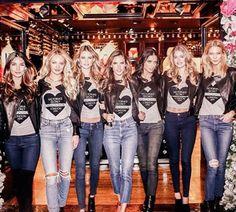 Lily , Candice , Behati , Alessandra , Adriana , Doutzen , Karlie