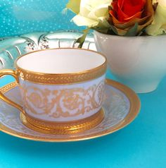 Vintage Tea Cup Edith Pascale CH Field Haviland Limoges