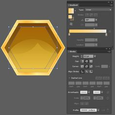What You'll Be The Honeycomb BaseStep start with the Polygon Tool. Create a hexagon with a radius in a dark mustard yellow order to create a. Graphic Design Lessons, Graphic Design Posters, Graphic Design Tutorials, Web Design, Graphic Design Illustration, Graphic Design Inspiration, Design Trends, Adobe Illustrator Tutorials, Photoshop Illustrator