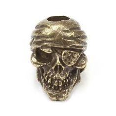 One-Eyed Jack Skull Bead, Oil Rubbed Bronze