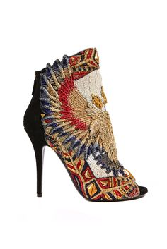 Balmain birds colorful shoes