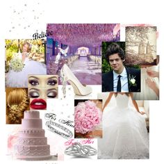 ........wedding day with Harry :* by katie-styles4u on Polyvore featuring HARRIET WILDE, Blue Nile, directioner and barnwedding