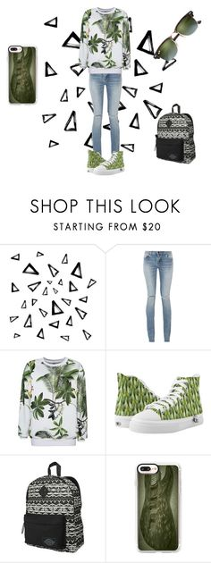 """""""green"""" by mariapizzuto on Polyvore featuring moda, Nika, Yves Saint Laurent, Dickies, Casetify e Ray-Ban"""