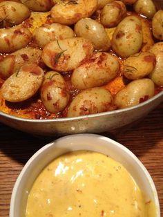 Spanish patatas bravas with saffron aioli