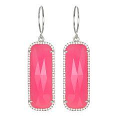 Paris Grand Earring - Rose Clear Silver
