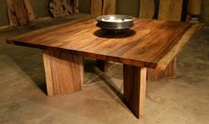 I would love to get into wood working and build my own coffee table or dining table down the next 5 years or so. I love the idea of this dining table, only I'd probably scale it down a notch to make it practical for a small home/apartment where space is a commodity.