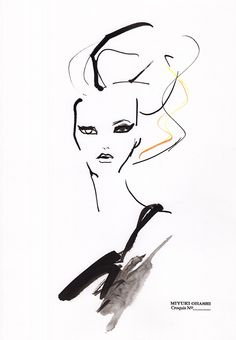 Fashion illustration - stylish fashion sketch // Miyuki Ohashi