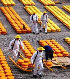 Cheese Market, Alkmaar, Holland, The Netherlands. Mostly known for its cheese market, Alkmaar is also a charming village.