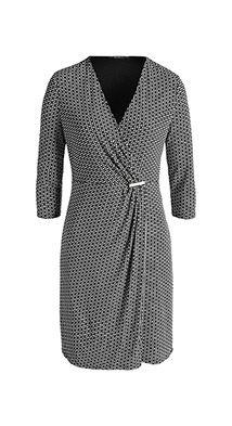 Robe imprim�e cache-c�ur, jersey stretch