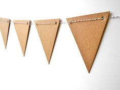Chipboard Pennant   DIY Bunting with Baker's Twine  von ClipAndPin, $7,95