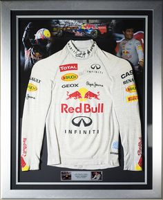 Authentic Mark Webber Red Bull F1 signed display. Race used fireproof Nomex  top from the a1cd6e477e1e
