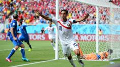RECIFE, BRAZIL - JUNE 20: Bryan Ruiz of Costa Rica celebrates scoring his team's first goal during the 2014 FIFA World Cup Brazil Group D match between Italy and Costa Rica at Arena Pernambuco on June 20, 2014 in Recife, Brazil. (Photo by Jamie McDonald/Getty Images)  2014 FIFA World Cup Brazil™: Italy-Costa Rica - Photos - FIFA.com
