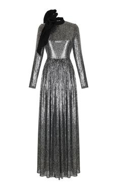 Sequin Embroidered Long Sleeve Gown by Rasario | Moda Operandi