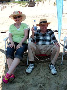 Grandparents on the beach