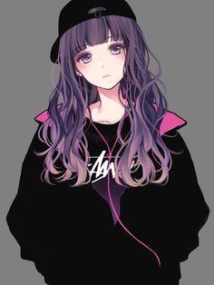 girl drawing, colourful drawing, draw anime step by step, puffer jacket, black skirt and blouse Anime Neko, Kawaii Anime Girl, Cute Manga Girl, Manga Kawaii, Pretty Anime Girl, Beautiful Anime Girl, Dark Anime Girl, Anime Wolf Girl, Manga Anime Girl