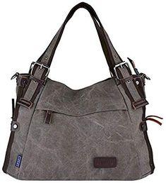 b687391d8f Amazon.com  Retro Hobo Style Women s Canvas Casual Handbag Shoulder Bag  Messenger Bag Purse