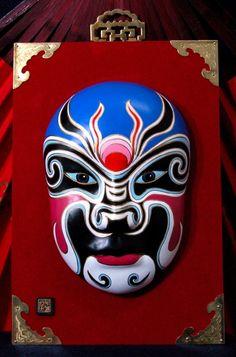 chinese opera masks - Google Search Chinese Opera Mask, Chinese Mask, Mask Images, Maquillage Halloween, Masks Art, China Art, Orient, Mask For Kids, Mask Making