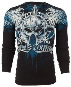 Xtreme Couture AFFLICTION Mens THERMAL T-Shirt DEALER Tattoo Biker M-3XL $58 #Affliction #GraphicTee