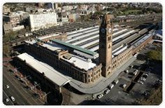 Aerial view of Central Station, Sydney Australia - where we spent the morning and had breakfast while waiting for a train to home -  14.10.12