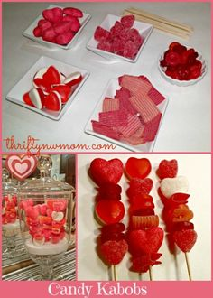 Valentine treats Candy Kabobs