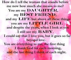Inspirational Words to a daughter - WOW.com - Image Results