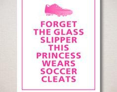 Girl's Soccer Print Set Keep Calm & Play Soccer by keepcalmspot