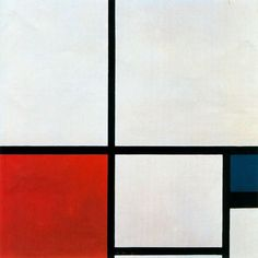 "1 with Red and Blue ~ Piet Mondrian ""lonequixote: "" Composition No. 1 with Red and Blue ~ Piet Mondrian "" Piet Mondrian, Bauhaus, Theo Van Doesburg, Square Art, Dutch Painters, Post Impressionism, Buy Art Online, Art Abstrait, Illustrations"