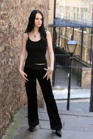 Gothic Velvet Hipster Jeans £79.00