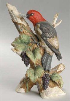 Sadek Woodpecker Porcelain Figurine