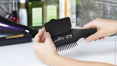 For hair bands and bobby pins that end up in the bottom of the dance bag. Hair Brush with storage compartments | LUUUX