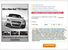 Win a New Audi TTS Coupe!