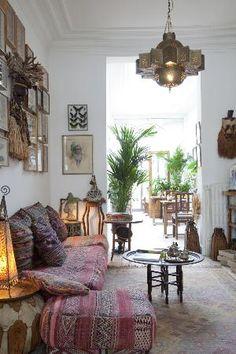 love this space...  Photos of De Witte Nijl, Antwerp - Bed and Breakfast. Boho inspired interiors..
