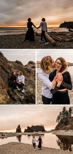 Sea stacks, driftwood and tidepools to explore, dreamy pink sunsets, and mild temps year-round — you can't go wrong choosing Ruby Beach for your engagement photos. In this blog post, I'm sharing everything you need to know to plan your own Ruby Beach Engagement. From where to stay or camp, what to pack, to when to visit, this blog will have you ready to book your epic surprise proposal at Ruby Beach on the Olympic Coast. Beach Engagement Photos, Engagement Shoots, National Park Pass, National Parks, Surprise Proposal, Tide Pools, Pink Sunset, What To Pack, Pacific Northwest