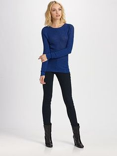 BIG fan of the sweater with skinny jeans & (ankle, knee or thigh) boots outfit.  Super comfy
