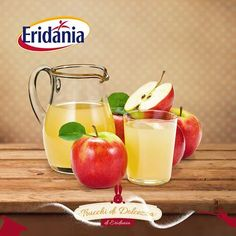 """Eridania trucchi di dolcezza: è tempo di pensare alle bibite fresche, vi piace il sidro di mele?  Se provate a realizzarlo in casa, per evitare che vi si anneriscano le mele, usate un po' di acido ascorbico (lo trovate in erboristeria) che non aumenta l'acidità del gusto come fa il succo di limone, ma ha lo stesso effetto """"conservante"""", poi non dimenticate di dolcificare la vostra bibita con Tropical Eridania!"""